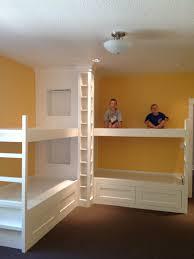 Duggar Girls Bedroom Remodel Custom Bunk Beds Open Floor Plan White Kitchen Built In Nook