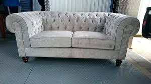 Handmade Chesterfield Sofas Uk Grey Chesterfield Sofa Handmade Grey Buttoned Velvet