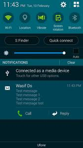 android smspush display push notifications like sms on android