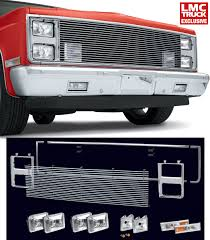 1986 chevy c10 tail lights billet front end dress up kit with 165mm rectangular headlights
