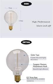 retro edison bulbs e27 220v vintage bulbs 25w 40w 60w g95 bulb