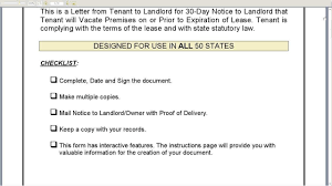 Notice Of Tenancy Termination Letter by Printable Sample Notice To Vacate Template Form Tenant Move Out