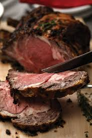 roasted beef prime rib with horseradish sauce thanksgiving