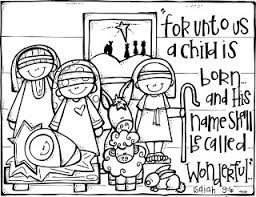 Christmas Nativity Coloring Page Bible School Crafts Story Free Printable Nativity Coloring Pages