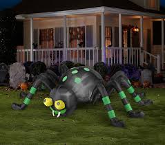 amazon com halloween inflatable 8 u0027 animated spider with spinning