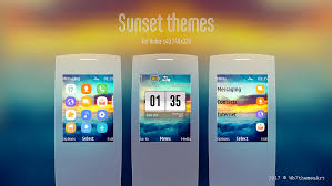 nokia c2 hot themes sunset theme for c2 01 x2 00 240x320 s40 asha 206 themes nokia