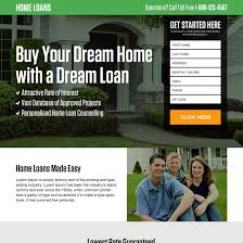 best home loan landing page design template to boost your business