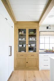 custom kitchen cabinets with glass doors caramel stained oak china cabinet with glass doors cottage