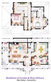 top plans of fictional residences from famous tv shows