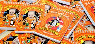 lucas u0027 looney tunes themed birthday invitations dianne tan