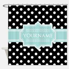 mint green and black shower curtains cafepress
