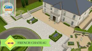 french chateau design the sims freeplay french chateau pre built houses youtube