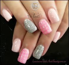 20 pink and silver nail designs glitter nail designs pink and