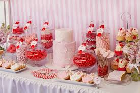 Bridal Shower Buffet by Little Big Company The Blog Red White And Pink Dessert Table