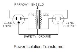 line isolation transformer ground