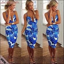 floral print dresses women summer casual dress strapless v