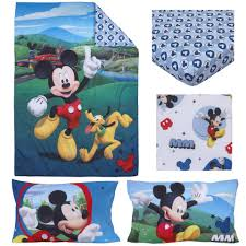 Mickey And Minnie Bed Set by Disney Mickey Mouse Play House 4 Piece Toddler Bedding Set Toys