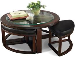 coffee table with four ottomans home decorating interior design