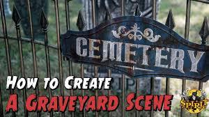 how to create a graveyard scene spirit halloween youtube