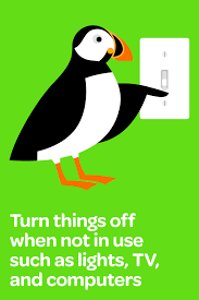 lazy green u2014 energy saving tip by puffin turn things off when not