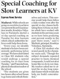 special coaching for slow learners at kv no 1 narimedu learning