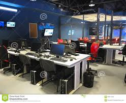 News Studio Desk by News Desk In A Television Studio Royalty Free Stock Photo Image