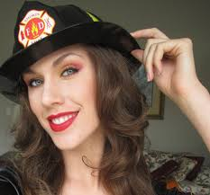 firefighter halloween makeup tutorial fire woman inspired