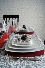 red and silver christmas table settings poniendo la mesa cena de navidad navidad mesas and christmas