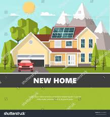 House Flat Design by American Suburban House Family Home Flat Stock Vector 511258993