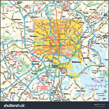 Map Of Baltimore Md Baltimore Maryland Area Map Stock Vector 139401341 Shutterstock