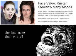 Kristen Stewart Meme - kristen stewart isn t always depressed