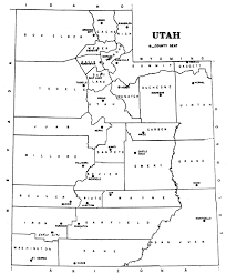 Utah Cities Map by Webtext Geography Of Utah