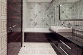 cream marble floor with brown wooden door brown wooden bathroom