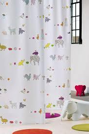 rideaux pour chambre d enfant rideau chambre enfant rideau voile de coton fille blanc imprime