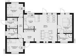 plan maison ossature bois plain pied 4 chambres maison modernes