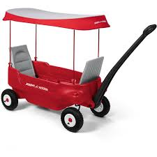 radio flyer deluxe all terrain pathfinder wagon with canopy ebay