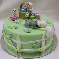 easter cake with dogs going on easter hunt png