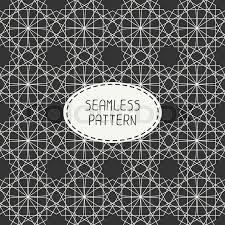 moroccan wrapping paper geometric line monochrome lattice seamless arabic pattern islamic