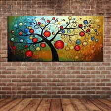 online get cheap wall murals posters aliexpress com alibaba group modern large wall painting decoration hand painted abstract money tree oil painting canvas art wall mural poster no frame
