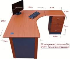 Office Corner Desk 1 4 M Office Corner Desk Right With 4 Drawer Pedestal