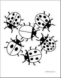 clip art ladybugs coloring abcteach abcteach