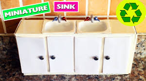 diy miniature kitchen sink with doors that open and close diy miniature kitchen sink with doors that open and close simplekidscrafts