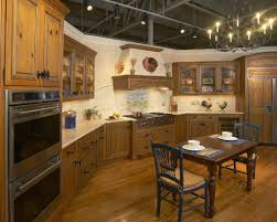 French Country Kitchen Furniture French Country Kitchen Cabinets Black Backsplash And Light