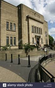 town of huddersfield england the art deco design entrance and