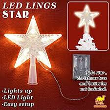 Christmas Lighted Moravian Star Indoor Outdoor Decoration by Amazon Com Led Indoor Outdoor Christmas Tree Topper Star Lights