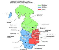 Lancashire England Map by Welcome To The North Western Deanery Gpst Health
