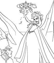 queen elsa princess anna coloring pages coloring sky