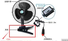 Travel Fan images 5pcs clips of tamehome auto car travel fan automobile cooling jpg