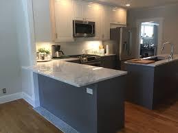 elegant gray and white bodyn ikea kitchen basic builders