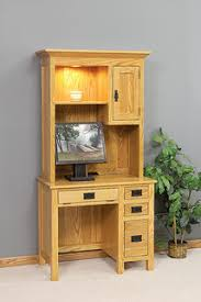 Oak Computer Desk With Hutch by Hutch Top Desks